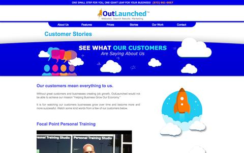 Screenshot of Testimonials Page outlaunched.com - Website Design Dallas TX | OutLaunched.com - captured Oct. 7, 2014
