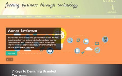 Screenshot of Home Page marcgottlieb.com - Marc Gottlieb   Wordpress PHP SEO Web Developer - captured March 7, 2016