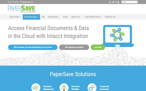 Intacct - Miami, Coral Gables, Hialeah | PaperSave