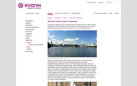 Hamburg - EvonikYNWA - Evonik Industries - Specialty Chemicals