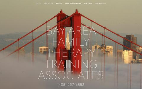 Screenshot of Home Page baftta.com - Bay Area Family Therapy Training Associates - captured Sept. 10, 2015