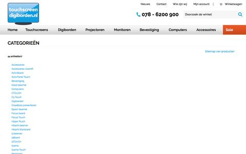 Screenshot of Site Map Page touchscreen-digiborden.nl - Sitemap - captured Dec. 14, 2016