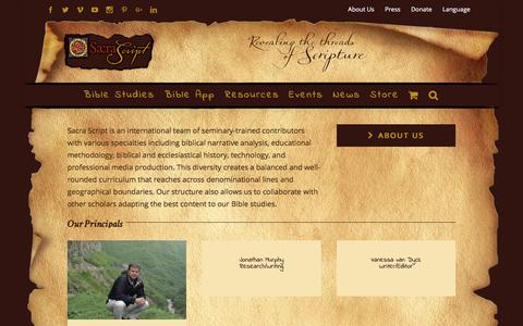 Screenshot of Team Page sacrascript.org - Our Team - Sacra Script Ministries - captured Sept. 27, 2017