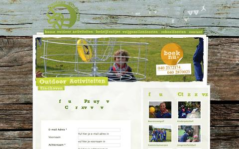 Screenshot of Contact Page outdoor-eindhoven.nl - Outdoor Eindhoven Arrangementen - captured Feb. 26, 2016