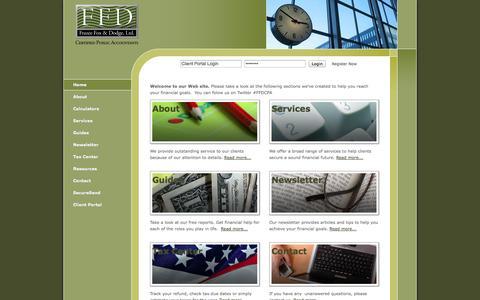 Screenshot of Home Page ffdcpa.com - Little Rock, AR CPA / Frazee, Fox & Dodge, ltd. - captured Oct. 6, 2014