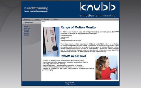 Screenshot of Home Page knubb.nl - Welkom bij KNUBB e-motion engineering - captured Sept. 30, 2014