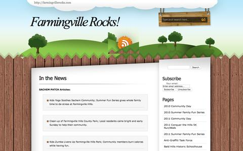 Screenshot of Press Page farmingvillerocks.com - Farmingville Rocks!   » In the News - captured May 21, 2016