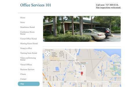 Screenshot of Maps & Directions Page officeservices101.com - Map - Office Services 101 - captured Jan. 12, 2016