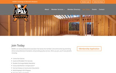 Screenshot of Signup Page bxmm.org - Join Today   Builders Exchange of Merced & Mariposa - captured Nov. 23, 2016