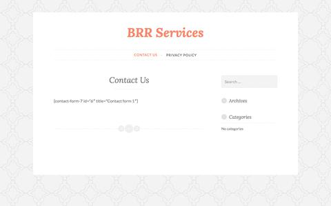 Contact Us – BRR Services