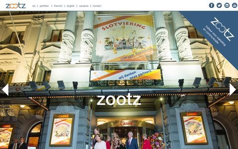 Screenshot of Home Page zootz.nl - Home | zootz - captured Feb. 13, 2016