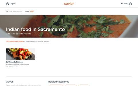 Indian food in Sacramento | Caviar