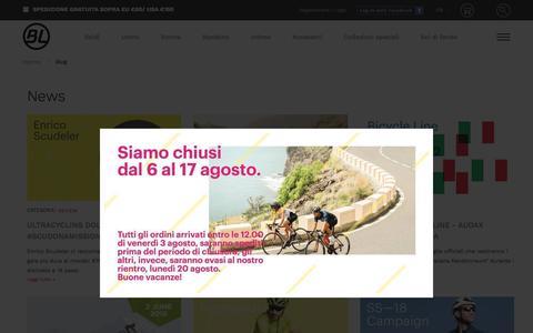 Screenshot of Press Page bicycle-line.com - News - captured Aug. 2, 2018