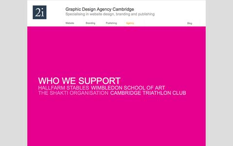 Screenshot of Support Page 2idesign.co.uk - Support - 2idesign | Graphic Design Agency Cambridge - captured Oct. 7, 2014