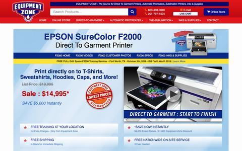 Epson F2000 Direct To Garment DTG T-Shirt Printer | Equipment Zone