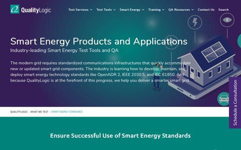 Screenshot of Services Page qualitylogic.com - QualityLogic | Test Tools & QA for Smart Grid Technology Standards - captured Feb. 2, 2020
