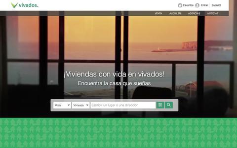 Screenshot of Home Page vivados.es - Casas y pisos en alquiler y venta | Vivados - captured Jan. 21, 2016