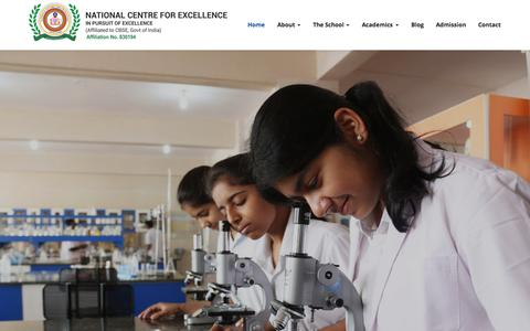 Screenshot of Home Page ncfe.ac.in - National Centre For Excellence - captured Sept. 22, 2015