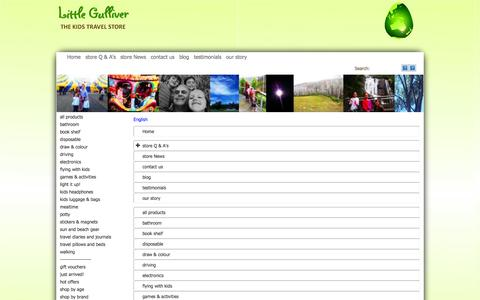 Screenshot of Menu Page littlegulliver.com.au - Map - captured Sept. 30, 2014