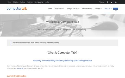 Screenshot of Jobs Page computertalk.co.uk - IT Support Technicians and Technical Consultants - Careers at Computer Talk - captured Aug. 12, 2017
