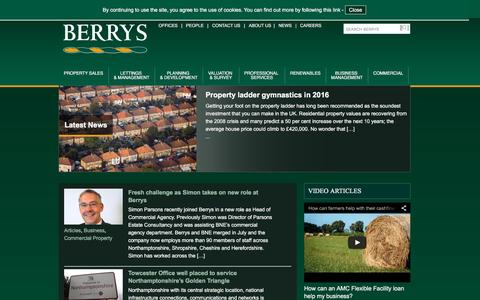 Screenshot of Press Page berrybros.com - News | Berrys - captured Feb. 4, 2016