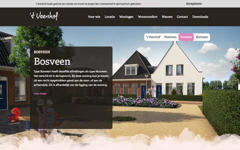 Screenshot of Home Page hetveenhof.nl - 't Veenhof - Wonen in Hooglanderveen - captured Sept. 3, 2015