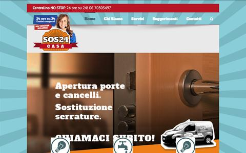 Screenshot of Home Page sos24casa.it - Sos24Casa: Fabbro, Elettricista, Idraulico a Roma - captured Dec. 5, 2015