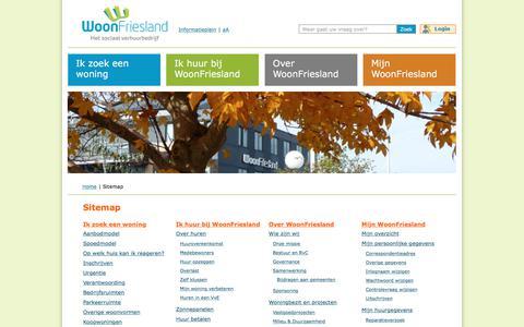 Screenshot of Site Map Page woonfriesland.nl - Sitemap- WoonFriesland - captured Sept. 20, 2018