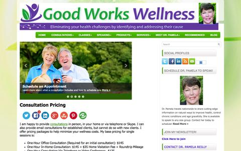 Screenshot of Pricing Page goodworkswellness.com - Consultation Pricing - Good Works Wellness Research, LLC - captured Oct. 3, 2014