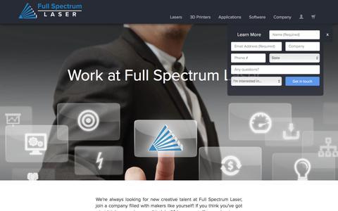 Screenshot of Jobs Page fslaser.com - Work at Full Spectrum Laser! - captured Feb. 10, 2016