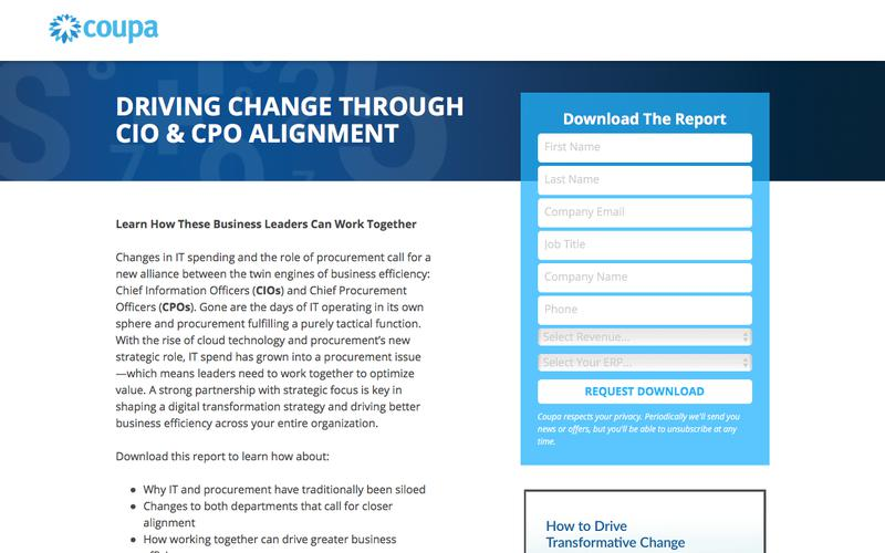 Driving Change Through CIO & CPO Alignment | IT and Procurement Strategy  | Coupa Software