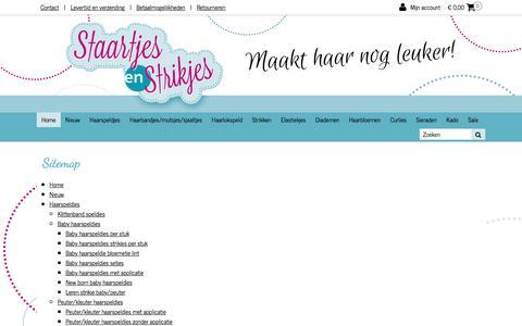 Screenshot of Site Map Page staartjesenstrikjes.nl - Sitemap | Staartjes en Strikjes - captured June 18, 2017