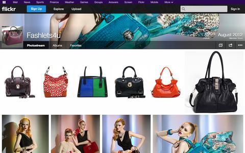 Screenshot of Flickr Page flickr.com - Flickr: Fashlets4u's Photostream - captured Oct. 23, 2014