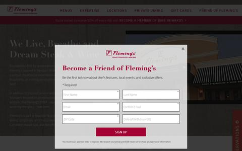 Screenshot of About Page flemingssteakhouse.com - About Us - Fleming's Prime Steakhouse & Wine Bar - captured Oct. 14, 2017