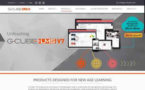 Screenshot of Products Page gc-solutions.net - Learning Management System (LMS), e-Learning Management software - G-Cube LMS - captured Nov. 9, 2018