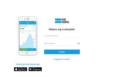 Screenshot of Login Page degiro.nl - Inloggen bij DEGIRO - captured July 5, 2017