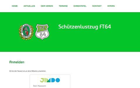 Screenshot of Login Page ft64.de - Anmelden - Schützenlustzug FT64 - captured June 8, 2016