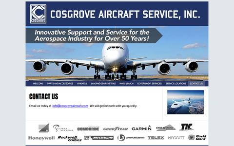 Screenshot of Contact Page cosgroveaircraft.com - Cosgrove Aircraft Services | Innovative Support and Service to Corporate Aviation For Over 50 Years  |  ZenBinder™ - captured Sept. 5, 2017