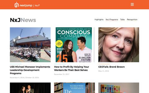 Screenshot of Press Page nextjump.com - News – Next Jump - captured July 8, 2019