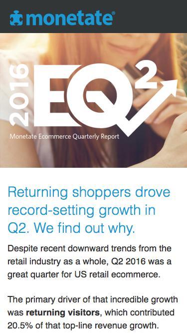 The Ecommerce Quarterly (EQ2 2016) | Ecommerce benchmark report from Monetate