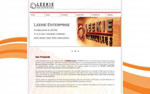 Screenshot of Products Page leekie.com - Leekie Enterprises Incorporated - captured Oct. 2, 2014