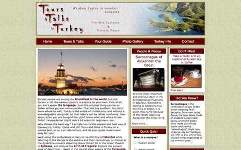 Screenshot of Home Page toursandtalksinturkey.com - Tours & Talks in Turkey - Home - Tours & Talks in Turkey - captured Oct. 7, 2014
