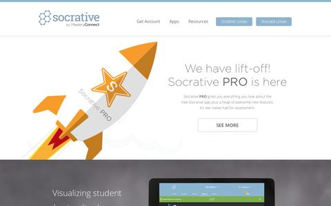 Screenshot of Home Page socrative.com - Socrative - captured Aug. 18, 2016