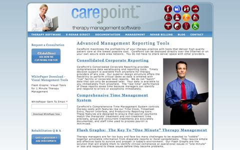 Screenshot of Team Page carepointsoftware.com - Therapy Management | Clinical Management - captured Oct. 22, 2014