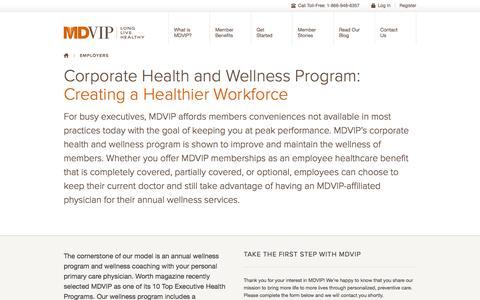 Corporate Wellness Program for Employers | MDVIP.com