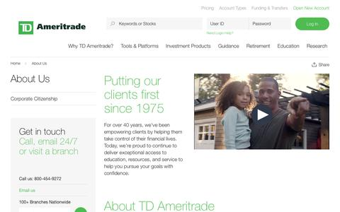 About Us   TD Ameritrade