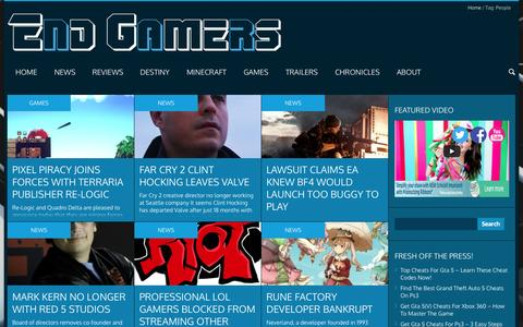 Screenshot of Team Page end-gamers.com - People | End Gamers - captured Sept. 30, 2014