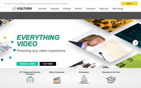 Video Platform   Kaltura