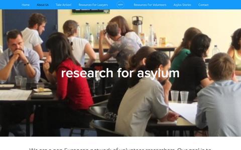 Screenshot of About Page asylos.eu - about us Ń asylos - captured Dec. 27, 2015