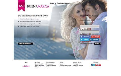 Screenshot of Login Page buenamarca.com - Acceso del cliente - captured Sept. 23, 2014